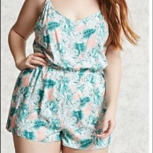 Forever 21 plus size tropical romper